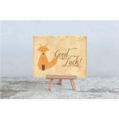 Мини открытка Good luck