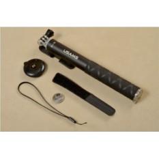 Монопод для селфи со съемной кнопкой Bluetooth (черный)