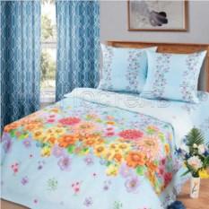 Постельное белье Радуга цветов (голубой, евростандарт)