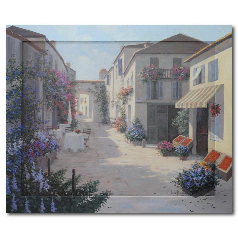 Картина Магазин на городской улице, (репродукция с подрисовкой на раме)