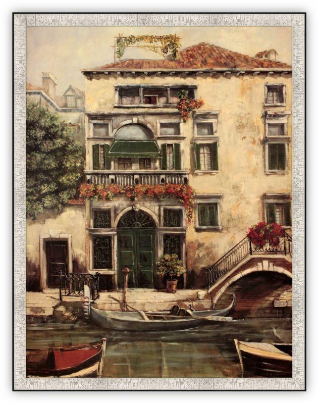 Постер Каналы Венеции/зеленая дверь  (Фабриса де Вильнев)