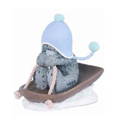 Коллекционная фигурка «Мишка на санках» MTY