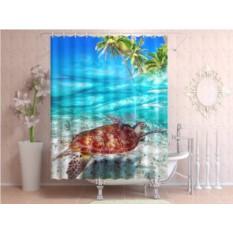 Штора для ванной Морская черепаха