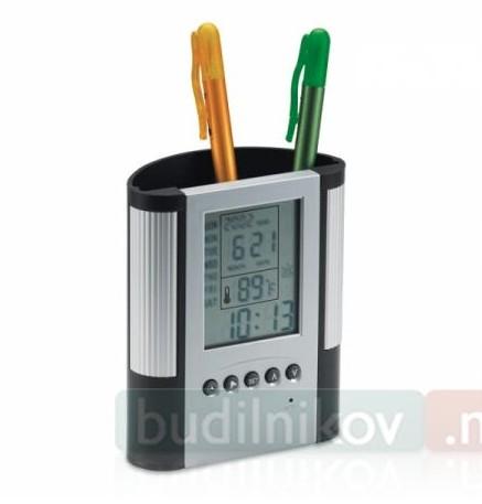 Часы-будильник Подставка для ручек с термометром