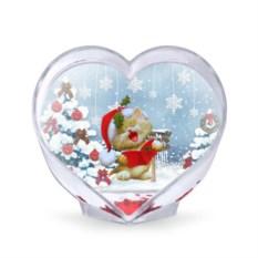 Сувенир-сердце Новогодний котёнок