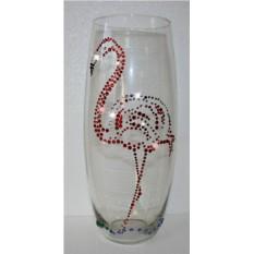 Ваза с кристаллами Swarovski Фламинго