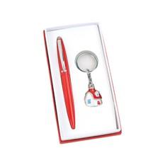 Набор аксессуаров: шариковая ручка, брелок «Домик»