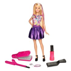 Игровой набор с куклой Barbie Цветные локоны Mattel
