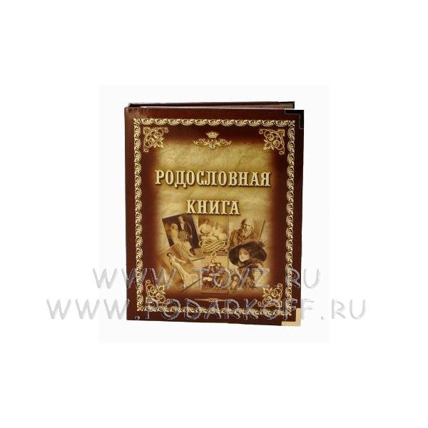 Родословная книга Ретро-портреты, обложка из картона