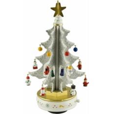 Новогодняя музыкальная Белая елка с украшениями