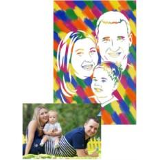 Портрет семьи по фото своими руками
