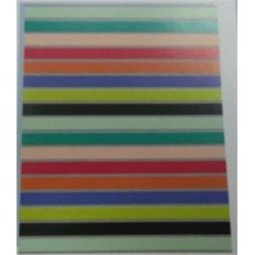 Бумажный ламинированный пакет Цветная полоска