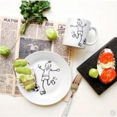 Набор фарфоровой посуды Юный футболист