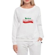Белый женский свитшот Merry Christmas