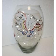 Ваза с кристаллами Swarovski Бабочка