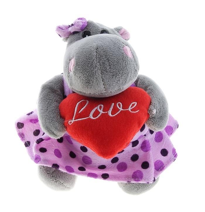 Мягкая игрушка Влюбленная бегемоточка