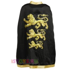 Детский карнавальный рыцарский плащ с тремя львами