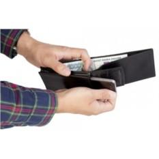 Черный футляр для смартфона с кошельком Кошелефон