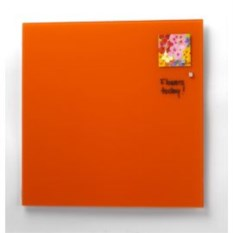 Стеклянная оранжевая магнитно-маркерная доска Askell