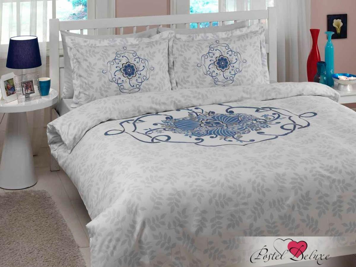 Голубое постельное белье КПБ Alissa