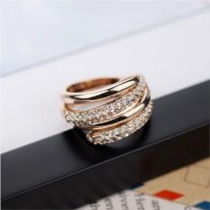 Кольцо «Вместе навсегда» двойное с золотым покрытием