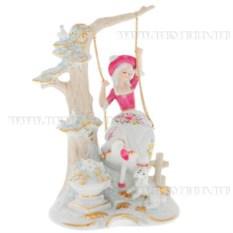Декоративная фарфоровая фигурка Девушка на качелях