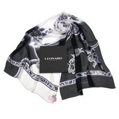 Классический черно-белый палантин Leonard