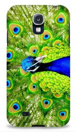 Пластиковая 3D накладка Павлин для Samsung S4 i9500