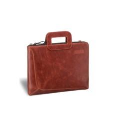 Кожаная деловая сумка Brialdi Fontana (цвет — рыжий)