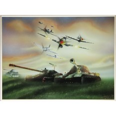 Картина с кристаллами Swarovski На страже Отечества