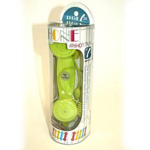 Телефонная трубка к мобильнику зелёная