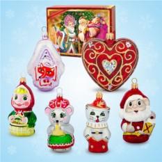 Набор ёлочных игрушек №1
