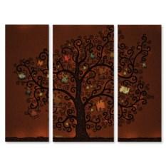 Модульная картина Книги на дереве