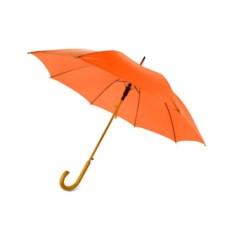 Полуавтоматический зонт-трость «Радуга» оранжевого цвета