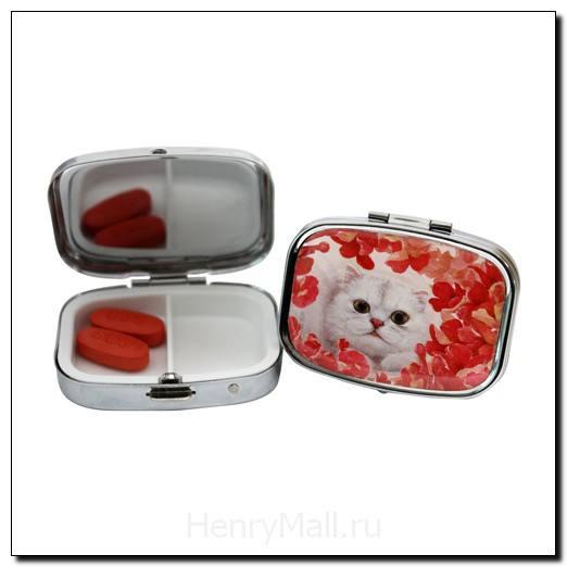 Коробочка для таблеток Кошка Оливия