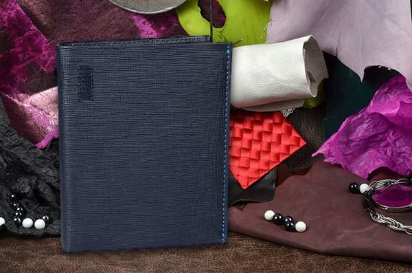 Синее мужское портмоне Mano из натуральной кожи