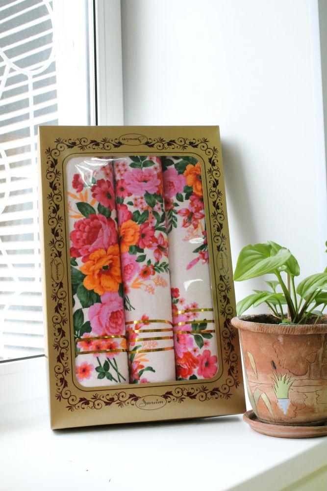 Подарочный набор полотенец Цветочный рай (3 полотенца)