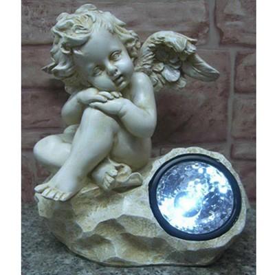 Фонарик солнечный «Ангел мечтает»
