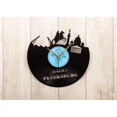 Часы из виниловой пластинки Санкт-Петербург