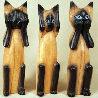 Статуэтки в наборе «Кошки сиамские»