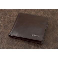Кожаное коричневое портмоне Ferretti