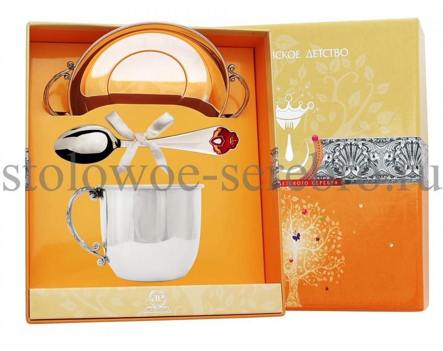 Серебряный столовый набор Принцесса №106