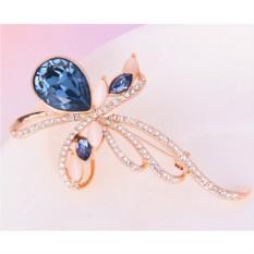 Брошь с синими кристаллами Сваровски «Муза»
