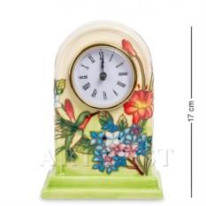 Фарфоровые часы Колибри в саду (Pavone)