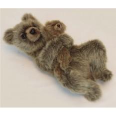Мягкая игрушка Hansa Медведица с медвежонком, 33 см