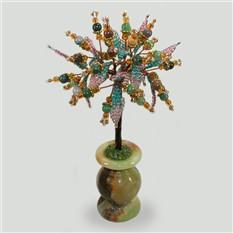 Дерево из яшмы Моя тайна в вазочке из оникса