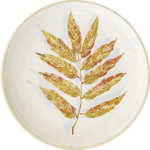 Настенная тарелка Лист рябины