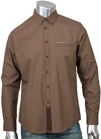Рубашка Merc Sylvester, коричневая
