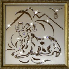 Картина с кристаллами Swarovski Овен 35х35 см