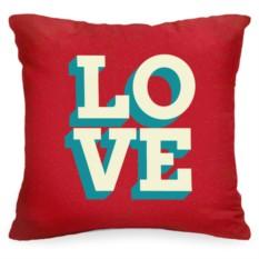 Декоративная подушка Love retro